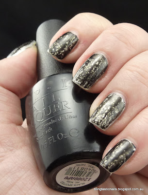 OPI Black Spotted and Layla Metal Chrome
