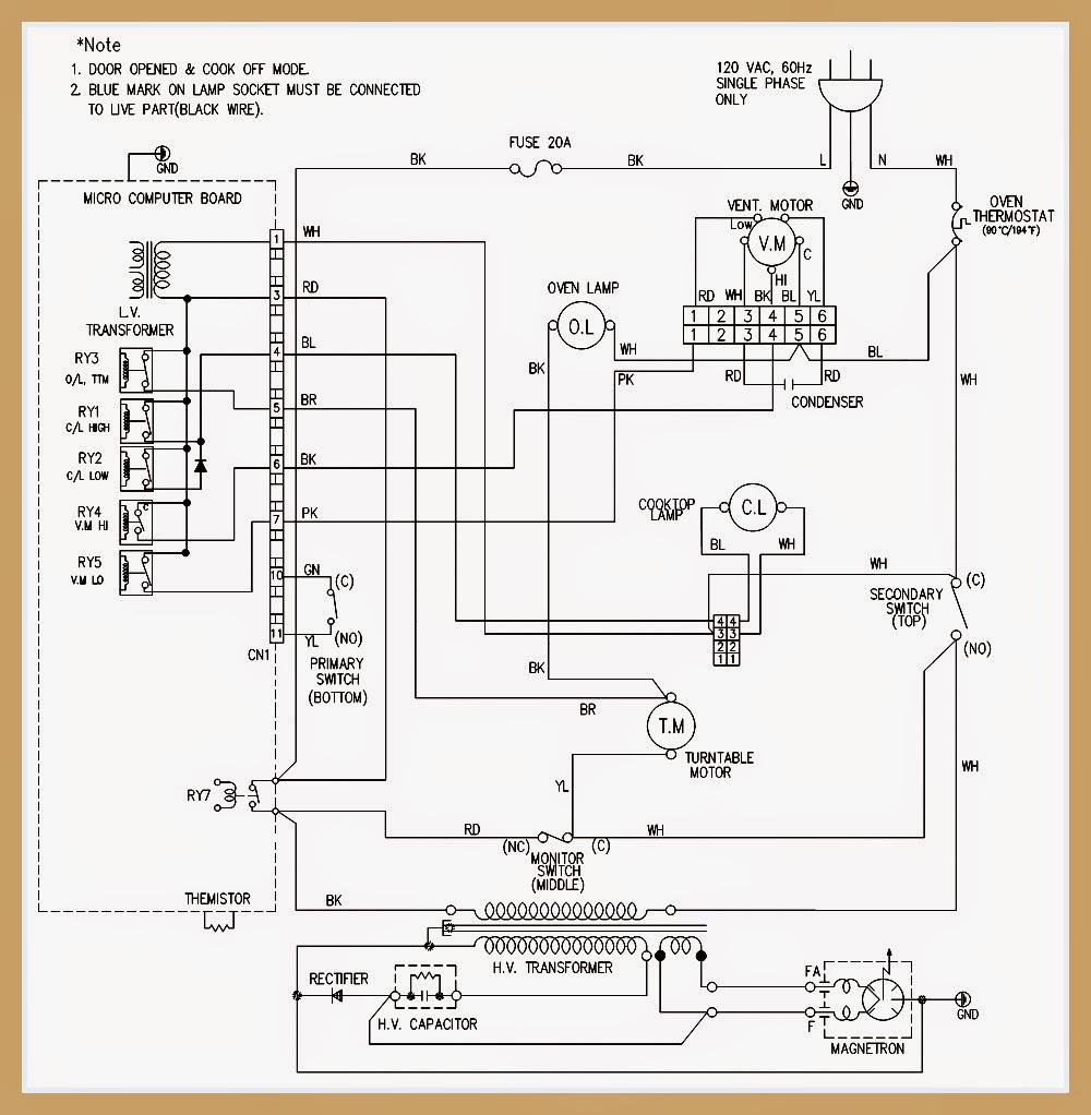goldstar mv1615w microwave oven schematic electro help