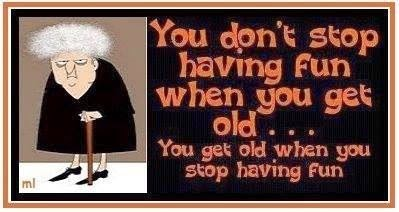 You're only as old as you think you are...