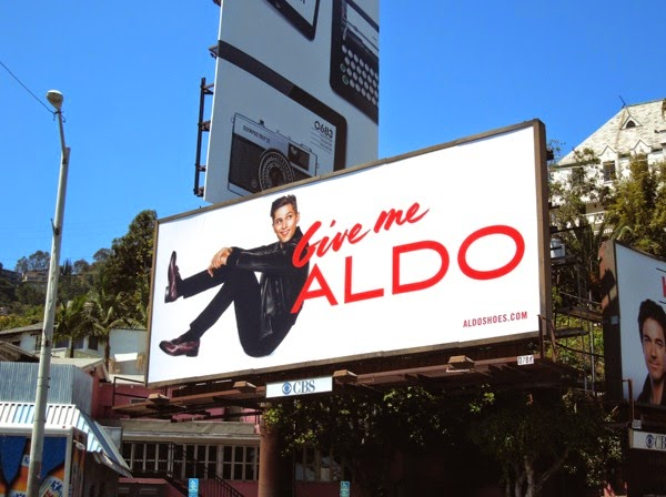 Give me Aldo male model billboard Aug 2013
