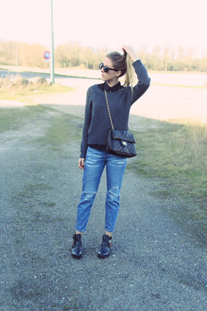 Cut out boots outfit