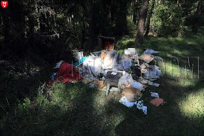 свалка мусора рядом с клубом Фестивальный