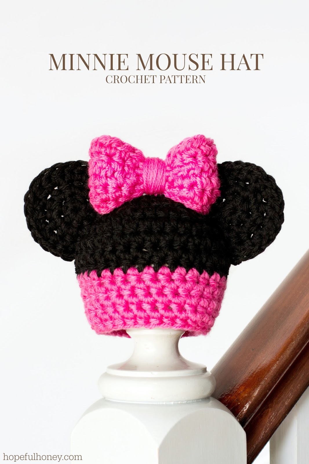 Newborn Minnie Mouse Inspired Hat Crochet Pattern ...
