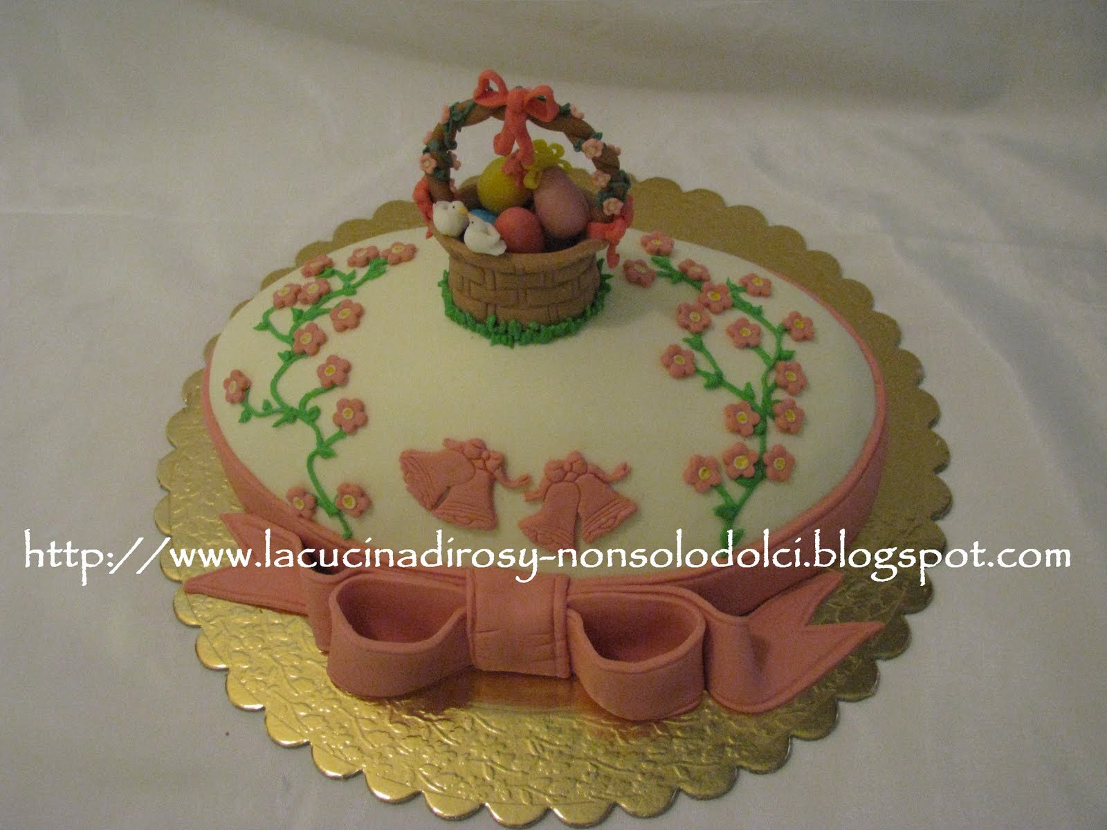 Le torte decorate di rosy torta uovo di pasqua for Decorazioni torte ladybug