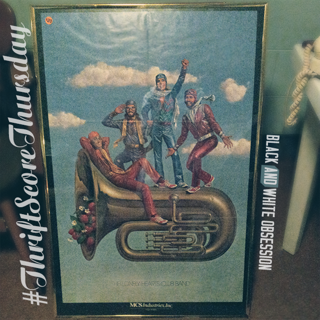 #thriftscorethursday Week 19 Vintage Movie Poster: Sgt. Pepper's Lonely Hearts Club Band | www.blackandwhiteobsession.com