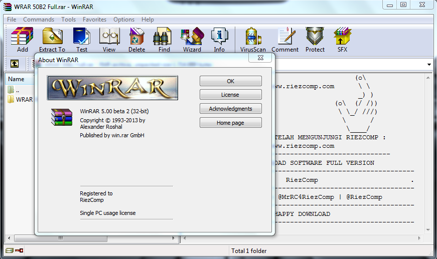 Download WinRAR Versi Terbaru 2013 Full Crack 