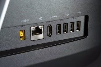 Расположение портов на заднее стороне моноблока Lenovo IdeaCentre C560