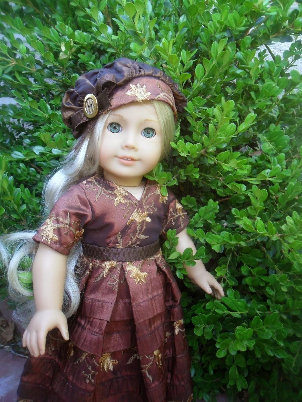 Brown Taffeta Doll Dress