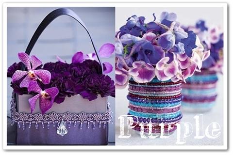 väska med blommor