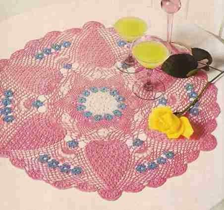 """Centro de mesa """"Nomeolvides"""" a Crochet"""