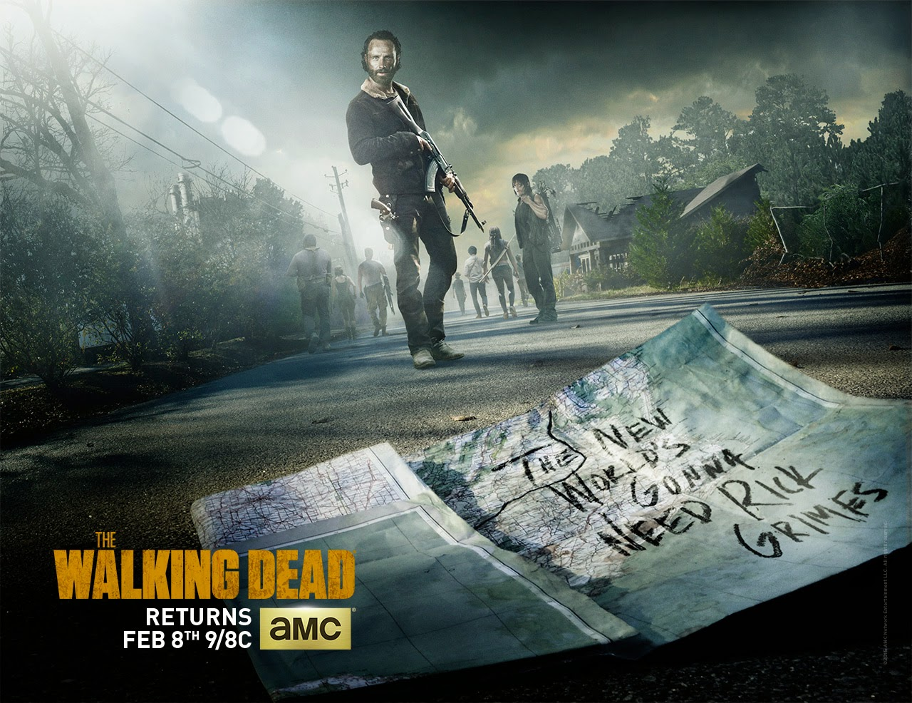 The Walking Dead Season 5 Midseason Premiere Poster