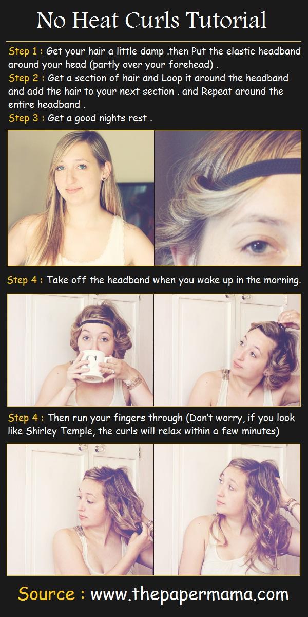No Heat Curls Tutorial | Pinterest Tutorials