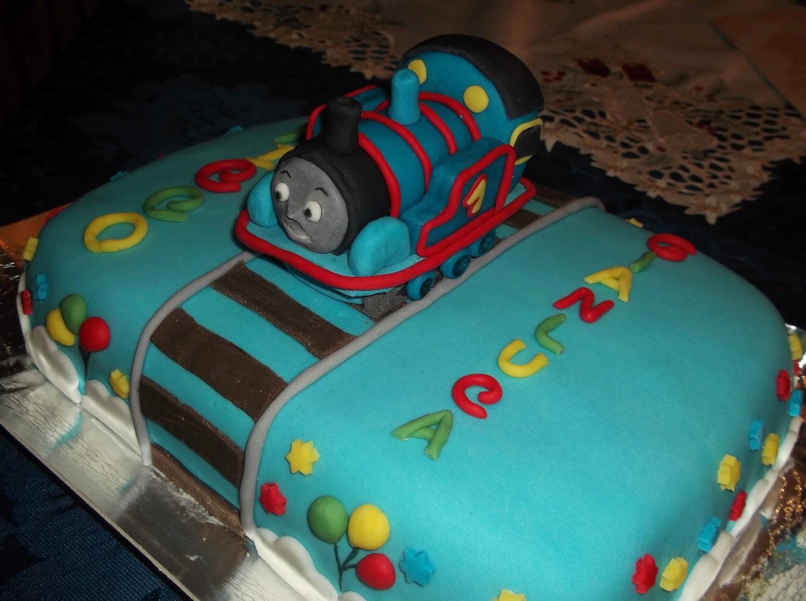 Fantasie di mary torte decorate et voil le mie torte for Decorazioni torte trenino thomas
