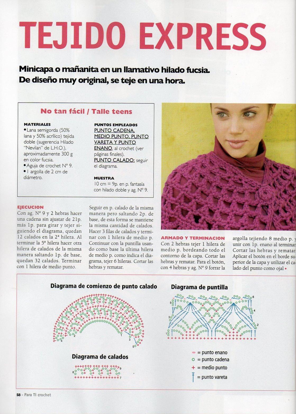 Patrón de Capa Calada Muy Fácil Para Hacer Rapida | Patrones Crochet ...