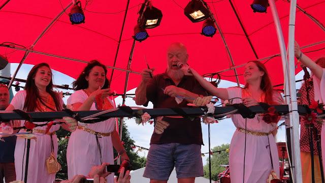 Michael Eavis Opening The Glastonbury Bandstand