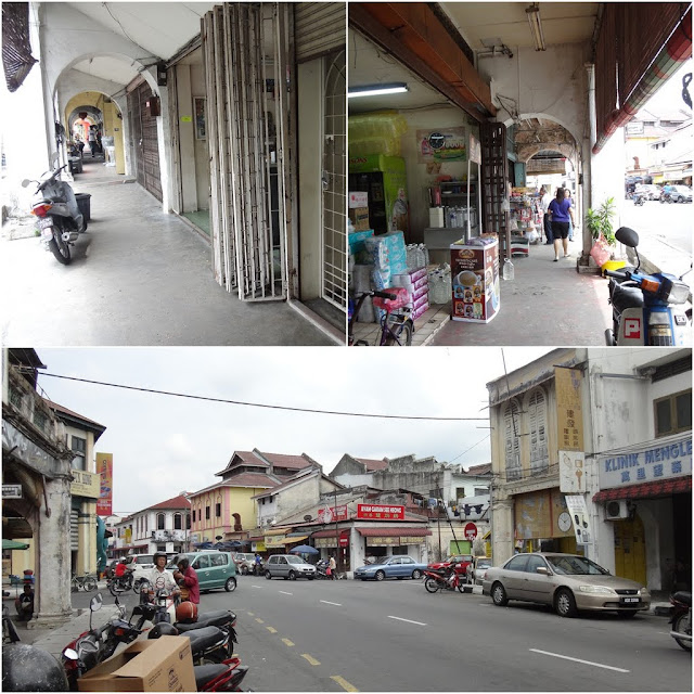 An old, ruin down but full of historical buildings in one of the typical towns in Ipoh, Perak, Malaysia