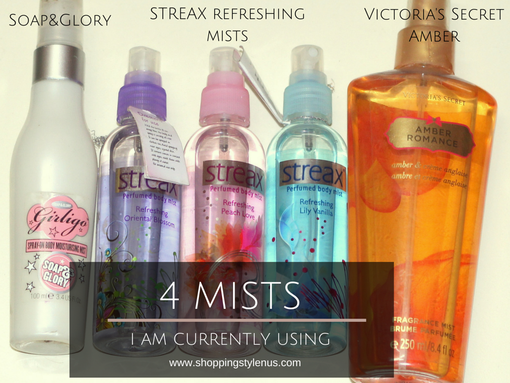 4 Body Mists I Am Currently Using - By Soap and Glory, Streax and Victoria's Secret