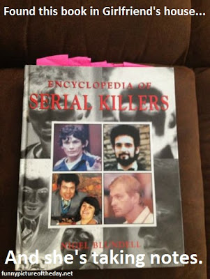 Serial Killers Book Funny Girlfriend Taking Notes