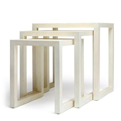 Made Goods White Nesting End Tables Clayton Gray Home