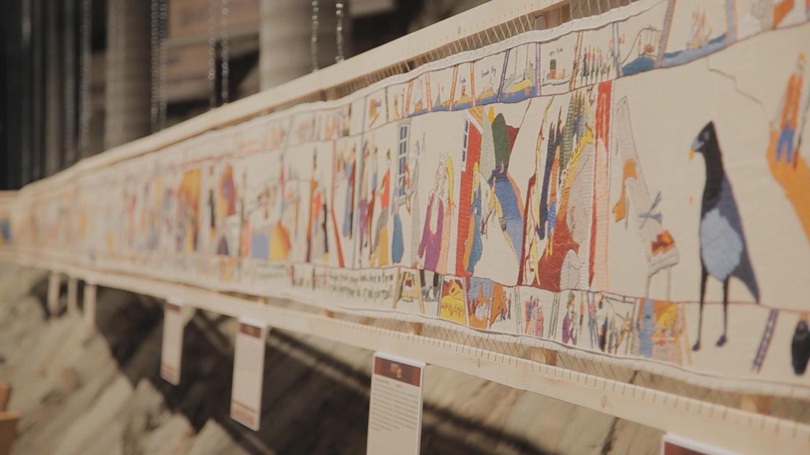 Que raconter comme histoire la tapisserie de bayeux - Qu est ce que la tapisserie de bayeux ...