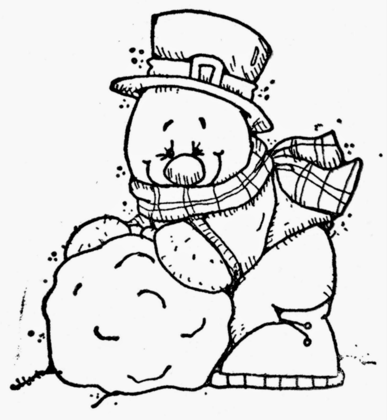 Cute Snowmen Free Printable Coloring