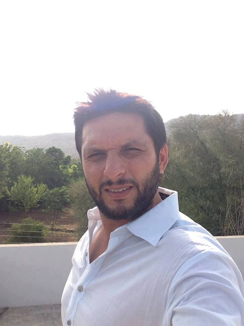 Pakistani Cricketer Shahid Afridi Khan in Kohat Visiting His Hospital