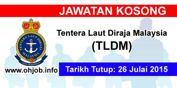 Jawatan Kerja Kosong Tentera Laut Diraja Malaysia (TLDM) logo www.ohjob.info julai 2015