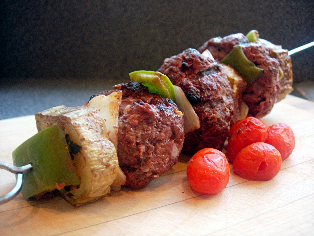Hamburger Skewers for Picky Eaters