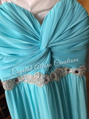 City Triangles Strapless Prom Dress with beading. Photo Source: Crystal Allure Jewelry Creations