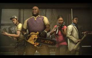 Left to right (Ellis, Coach, Rochelle, and Nick) Left 4 Dead