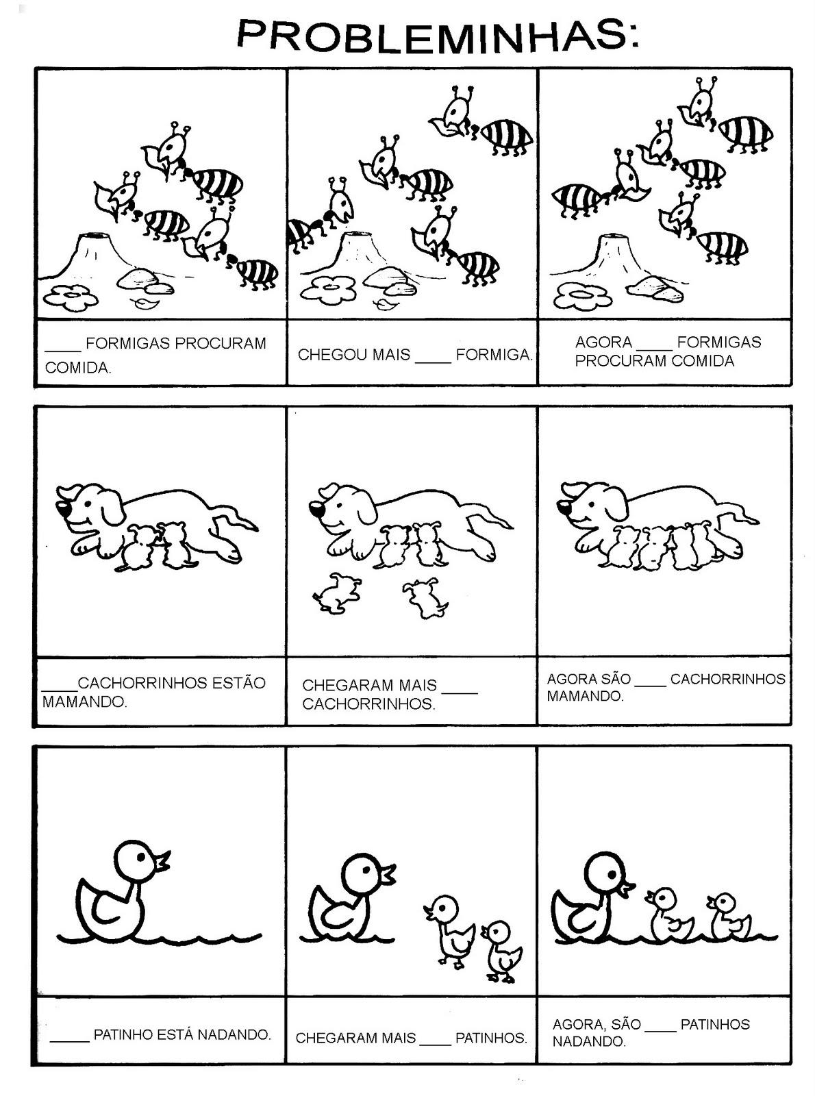 Criando E Recontando Probleminhas Matemática
