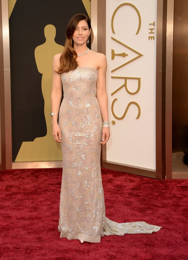 Jessica Biel in Chanel at the Oscars