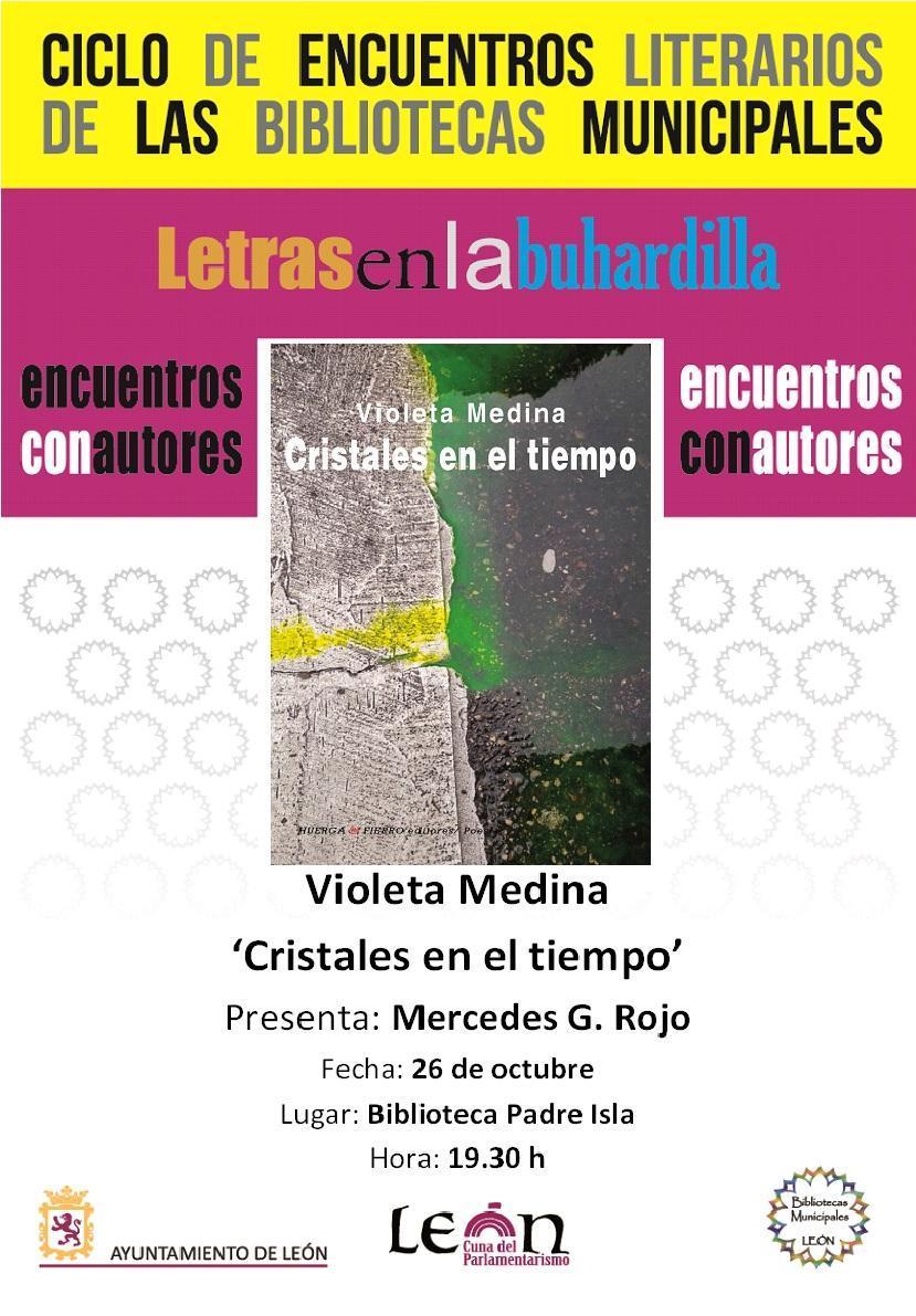 Violeta Medina en Letras en la Buhardilla. 26.10.2017