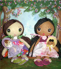 "Cutie Pie Felt Doll with a 2"" baby doll"