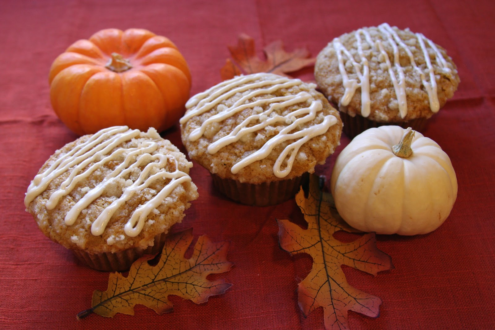 ... Culinary Indulgence: Pumpkin Spiced Muffins with Vanilla Maple Glaze