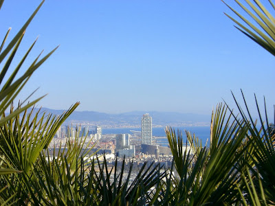 Twin Towers in Barcelona from the Alcaide viewpoint in Montjuïc