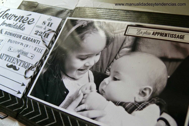 álbum de scrapbooking para el bebé