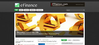 eFinance Blogger Template Is a Wordpress To blogger Converted Free Premium Blogger template