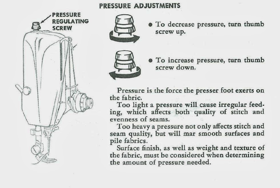 how to adjust presser foot pressure on sewing machine