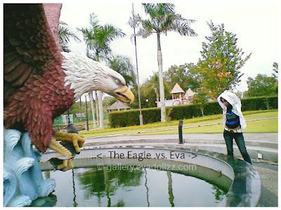 Eagle statue, or Hawk Statue, lagoi kepri Indonesia