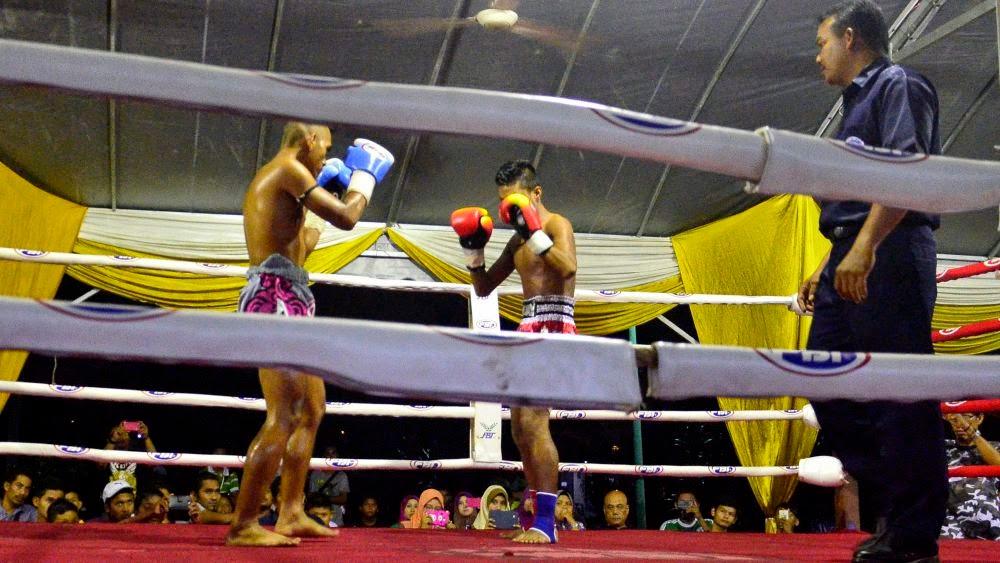 Tengok pertandingan Muaythai di Seberang Jaya