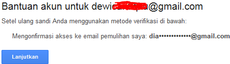 lupa kata sandi email