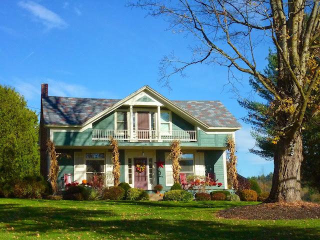 Casa decorada para Halloween en Vermont