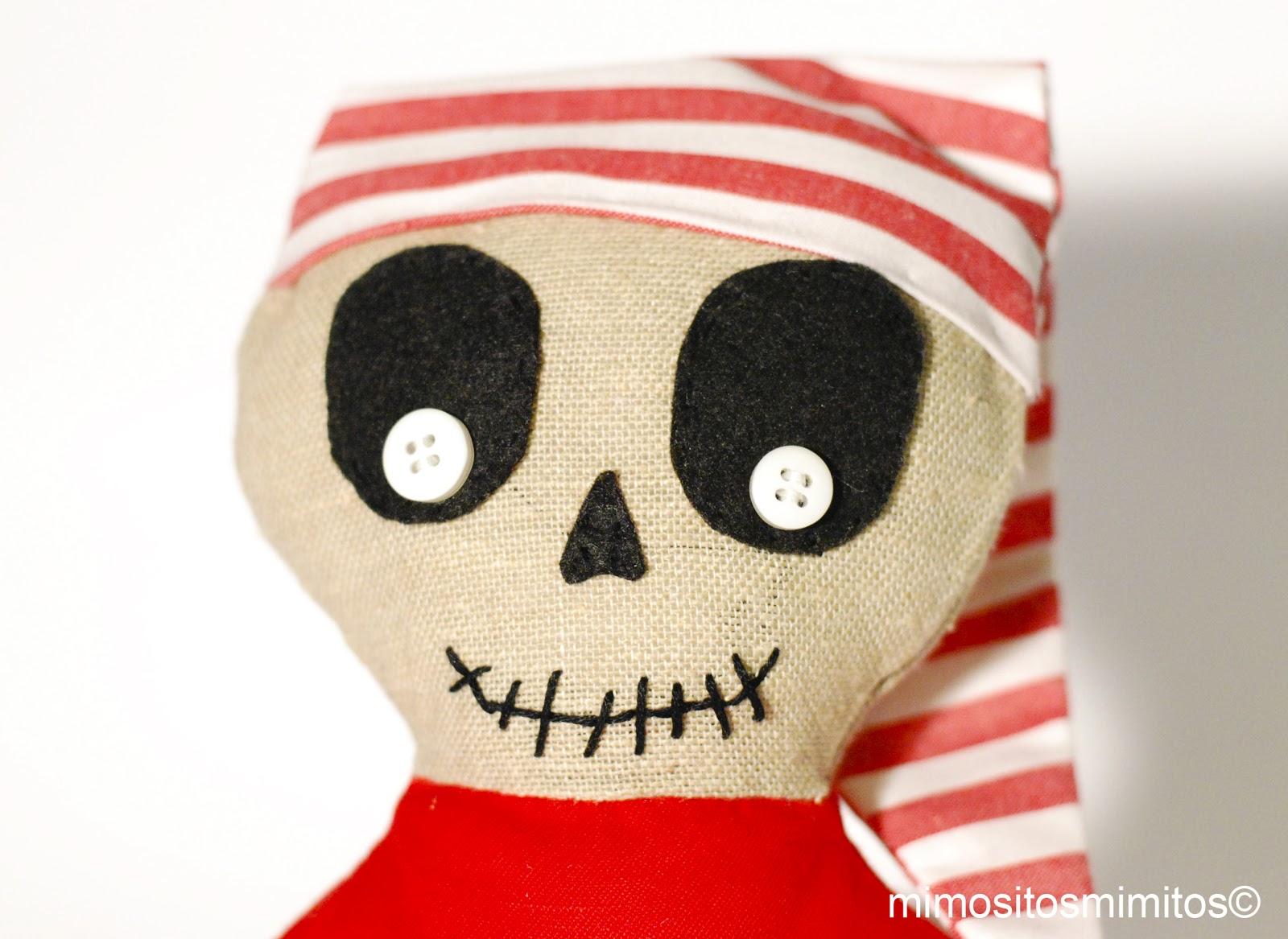muñeco de tela personalizado de navidad o halloween