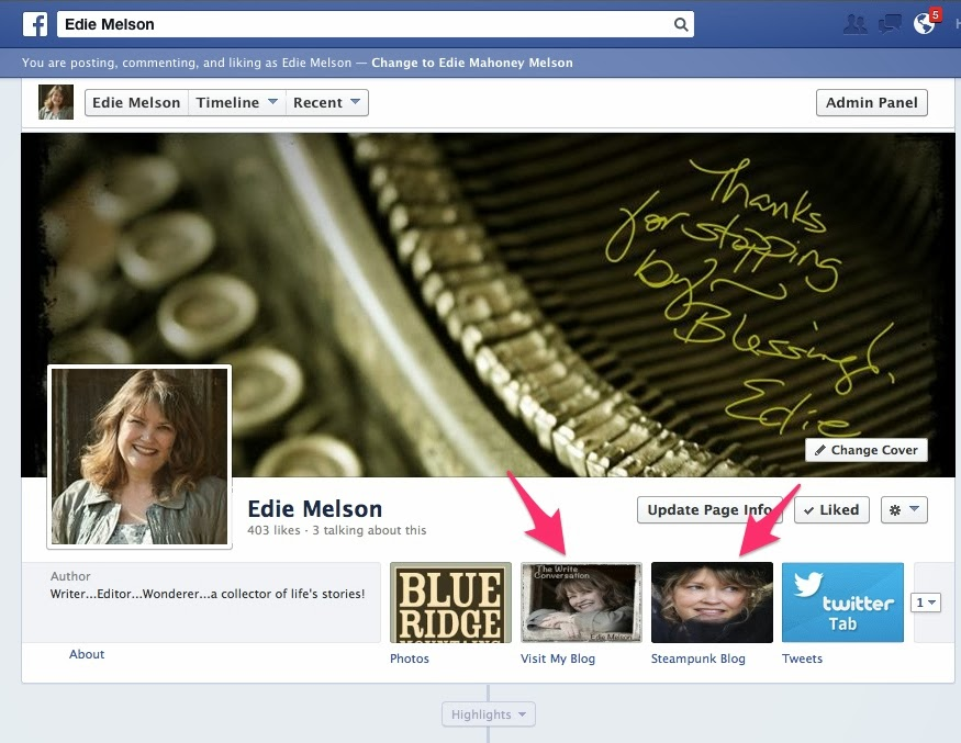 how to add tabs on fb page