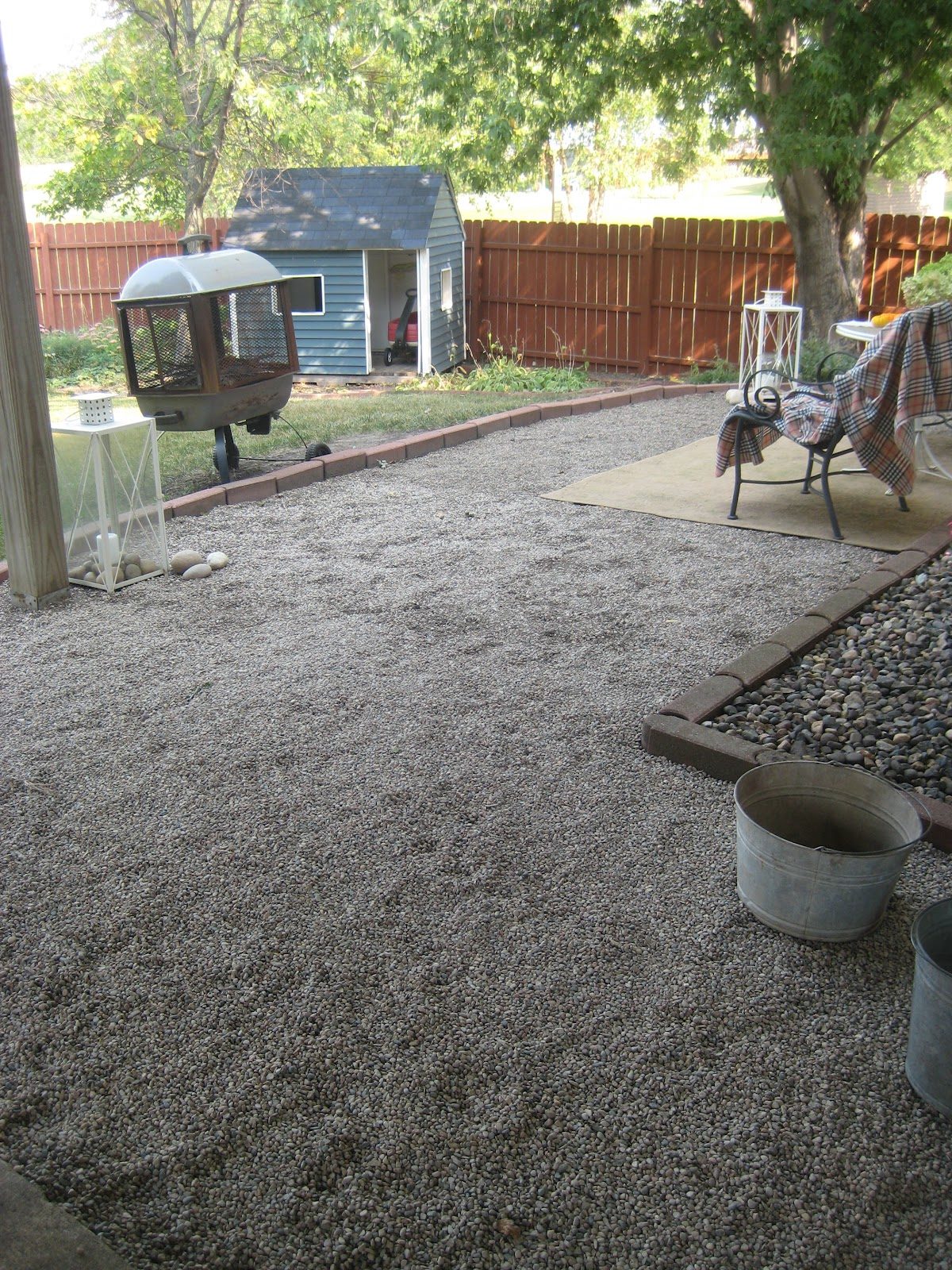 A New Gravel Patio
