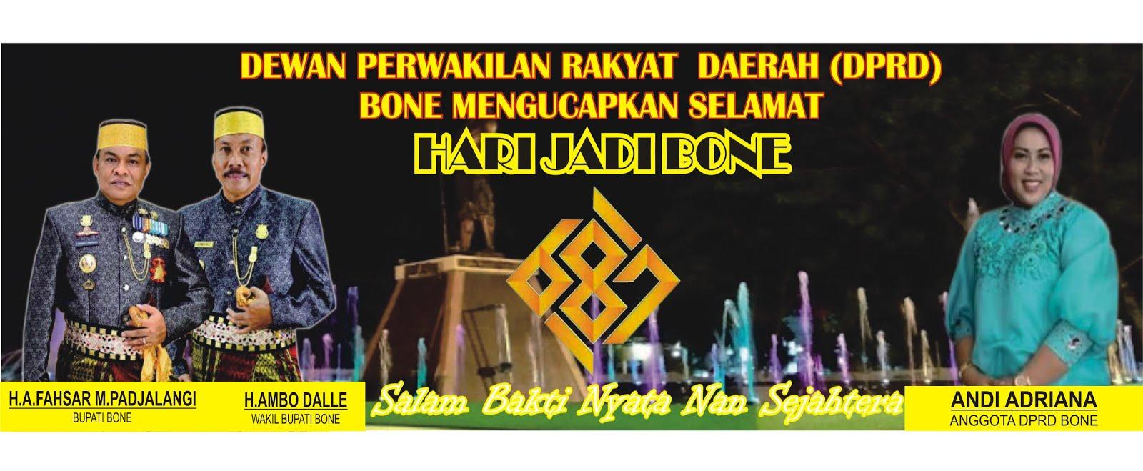 UCAPAN HARI JADI BONE