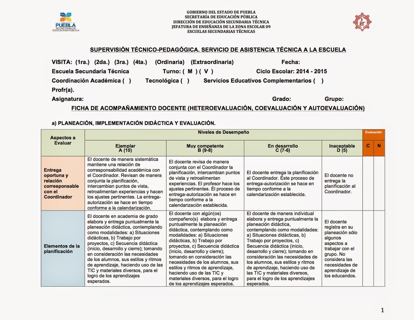 Jefe de Enseñanza Zona 09 Secundarias Técnicas: FICHA DE ...