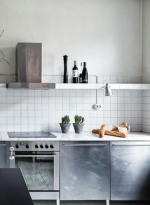 Cucina in acciaio s o no la tazzina blu - Cucine in acciaio ikea ...