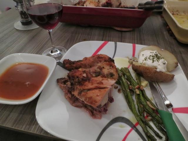 Roasted chicken seasoned with Mrs. Dash Chili Seasoning
